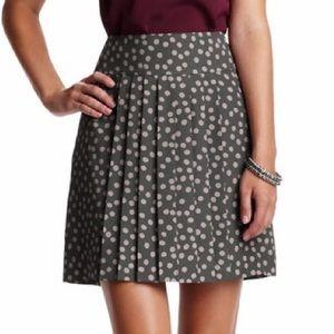Anne Taylor Loft Polkadot Pleated Skirt